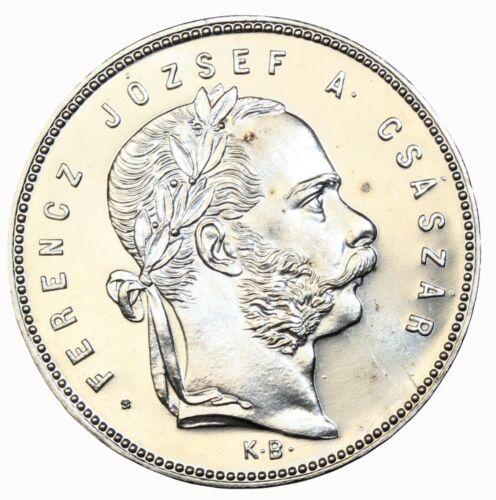 Hungary 1868-KB Silver 1 Florint Proof Restrike KM#449.1 Lettered Edge