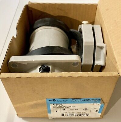 New In Box Crouse-hinds Nr1042 Service Outlet Receptacle 100a 3p 4w Warranty