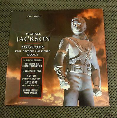 Michael Jackson - Rare HIStory 3 LP Vinyl Set (Autographed)
