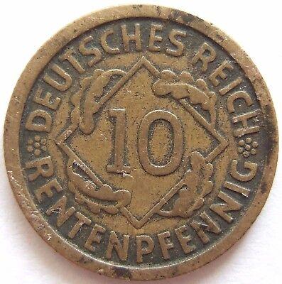 TOP! 10 RENTENPFENNIG 1923 F in SEHR SCHÖN SELTEN !!!