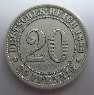 20 Pfennig Buchstabe 1888 --A--