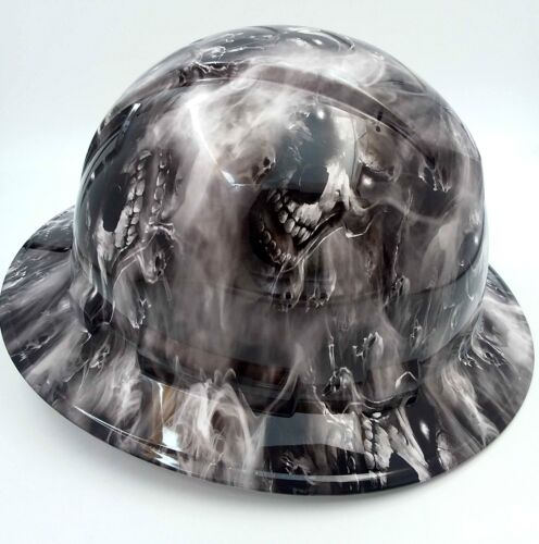 Hard Hat custom hydro dipped , OSHA approved FULL BRIM,HELL HAVE NO MERCY HADES 1