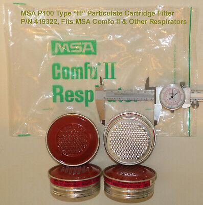 (4) MSA Type H P100 459322 Cartridge Filters for MSA Comfo II. Similar 815175