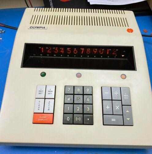 1970 Olympia ICR 412 M71 Nixie tube calculator w/ 12 digits