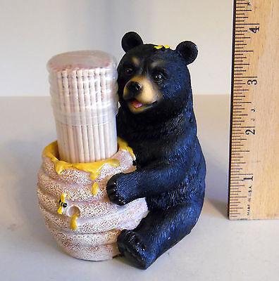 BLACK BEAR HONEY POT TOOTHPICK HOLDER BY DWK 2013