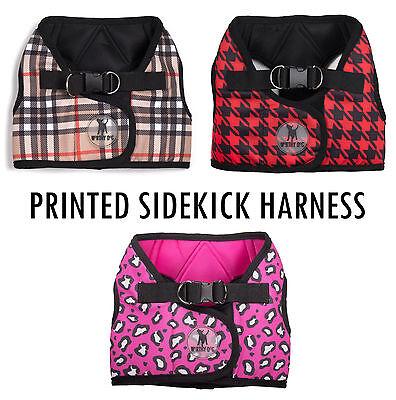 The Worthy Dog Printed Sidekick Harness - 9 Sizes Tiny to 3XL Optional Seatbelt