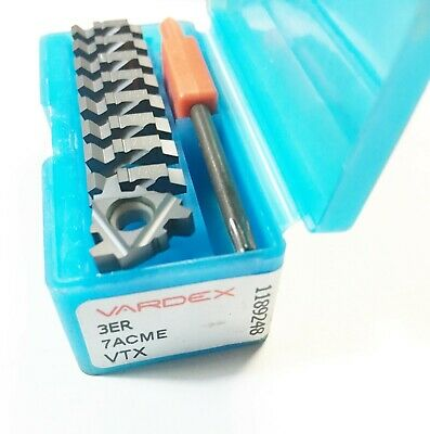 Vargus Vardex 3er 7acme Vtx Carbide Threading Inserts Qty 9 Pcs