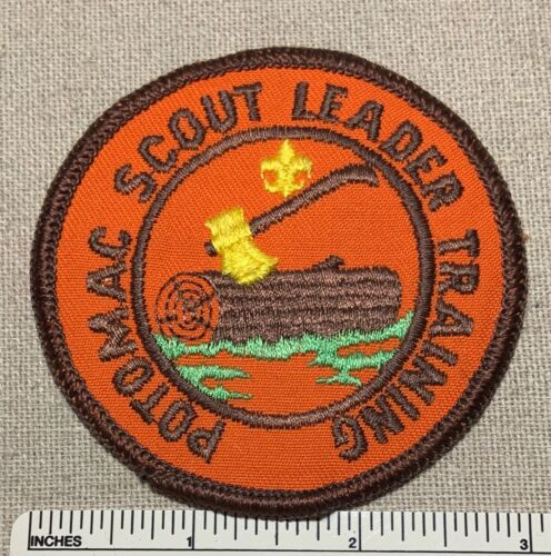 Vintage CAMP POTOMAC Boy Scout Leader Training PATCH Woodbadge Axe Log BSA
