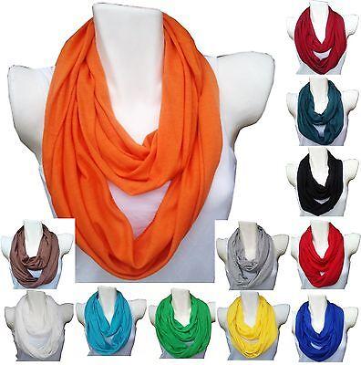 Loop Schal Schlauchschal Tuch Rundschal einfarbig Unifarben Unisex Damen Herren