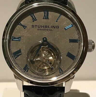 Stuhrling Tourbillon Meteorite Dial Handcrafted Limited Edition Mens Watch