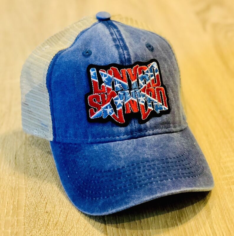 LYNYRD SKYNYRD Hat Embroidered Patch Distressed Leonard Band Cap Music ALABAMA !