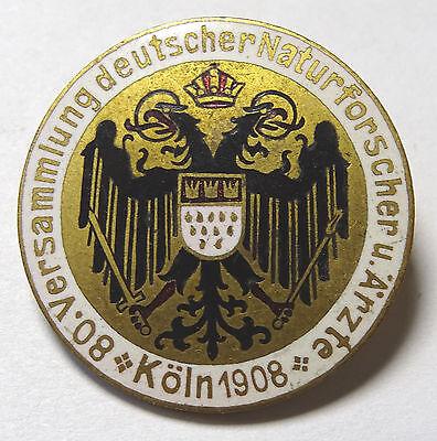 Anstecker - 80. Versammlung deutscher Naturforscher - Köln 1908