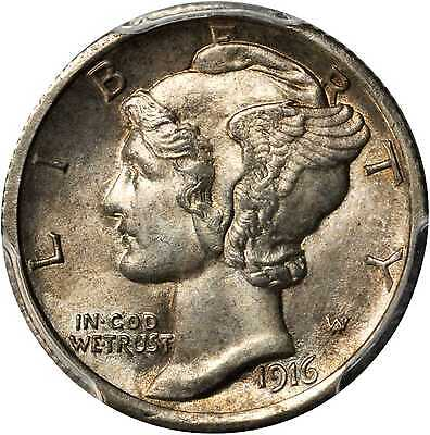 Click now to see the BUY IT NOW Price! 1916 D MERCURY DIME. MS 63 FB PCGS.