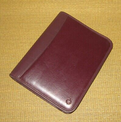 Classic Franklin Covey Burgundy Leather Trim 1.5 Rings Zip Plannerbinder