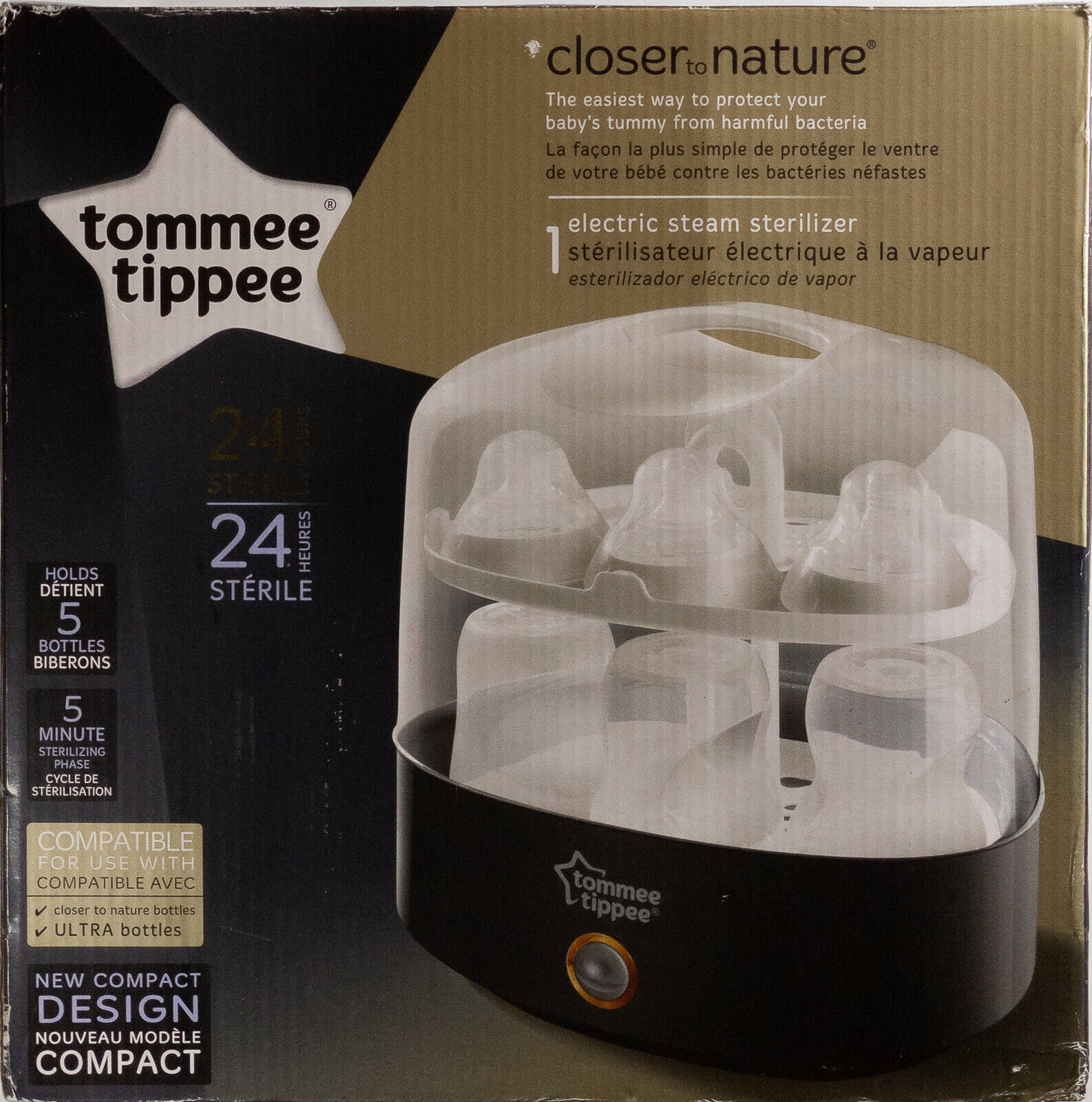 Tommee Tippee Closer to Nature Electric Steam Sterilizer - B