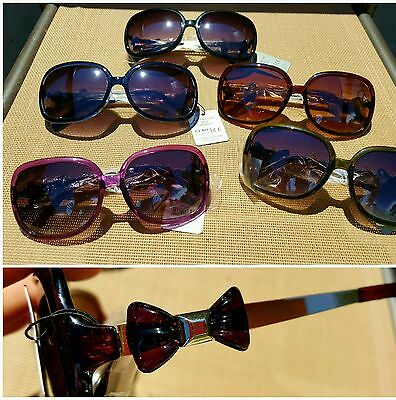 Oversized BOW Sunglasses ladies designer inspired shades NEW and cheap! - Purple Sunglasses Cheap
