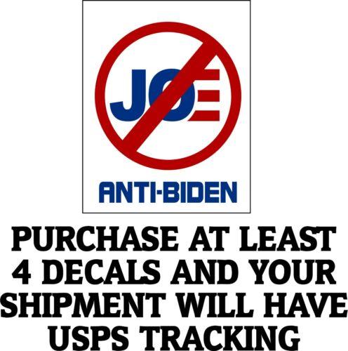 "Anti Joe Biden Biden Bumper Sticker 5"" X 5"" No Joe Biden Window Sticker"