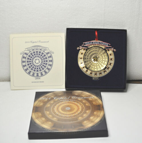 2004 Texas State Capitol Ornament with Original Box & Pamphlet