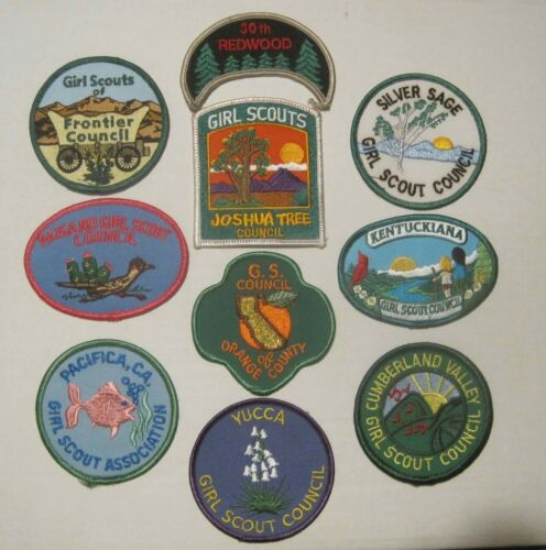 Girl Scout , Group of 10 Girl Scout Patches