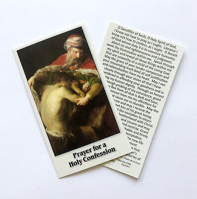 PRAYER FOR A HOLY CONFESSION - Reconciliation Prayer Card - Wallet / Purse Size