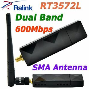 RT3572L WiFi USB Adapter With SMA 5dBi WiFi Antenna For RALINK Samsung Smart TV