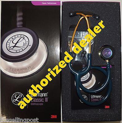 5807 3m Littmann Classic Iii Caribbean Blue Rainbow Stethoscope 27