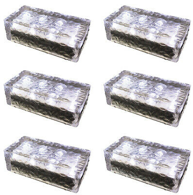 8er Set LED Solar Pflasterstein Weg Beleuchtung Garten LED Stein Milchglas