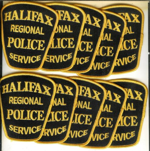 Lot of 10 Obsolete Halifax Regional Police Service Patches