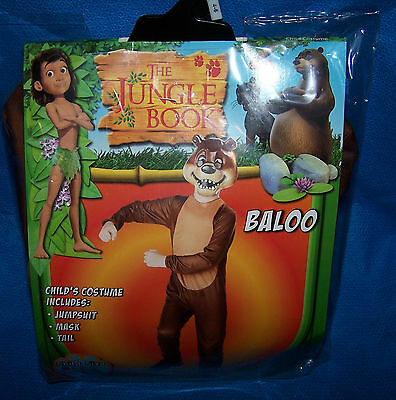 Size S 4/6 Child Costume The Jungle Book Baloo