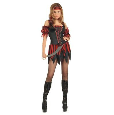 Halloween Karneval Kostüm Piraten Lady Schürung  Piratin Piraten Braut Sexy M