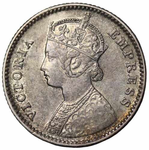 Key Date British India 1884-B Queen Victoria Silver 1/4 Rupee KM#490