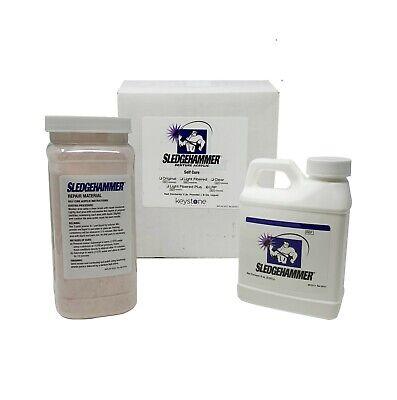 Sledgehammer Heat Cure Denture Acrylic Powder Liquid Light Fiber Plus 1lb 8oz