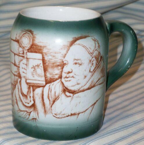 Antique Lebeau Porcelain Brewery Mug Monk / Friar Pattern - France