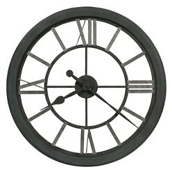 625-685  NEW LARGE WROUGHT IRON GALLERY CLOCK BY HOWARD MILLER MACI 625685