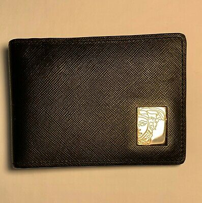 VERSACE COLLECTION Solid Black Genuine Leather, NO CREASES, NEW, no box but new.