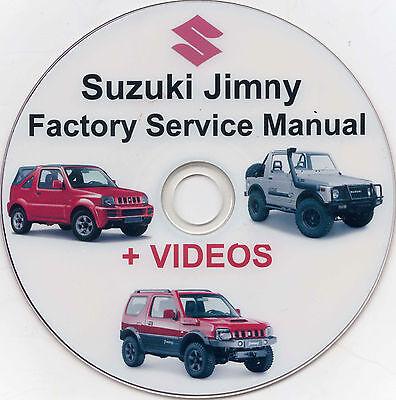 1998 – 2009 SUZUKI JIMNY WORKSHOP SERVICE MANUALS PLUS VIDEOS SJ413 SN413 DVD