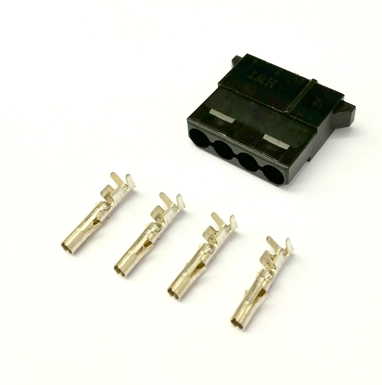MALE & FEMALE 4 Pin Molex Pc Psu Power Connectors - 1 Of Each- Black ...