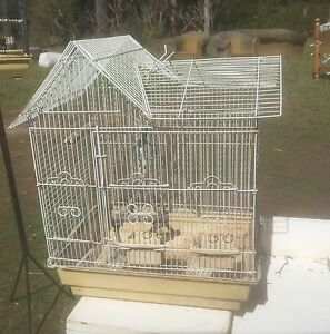 LARGE  WHITE  BIRD  CAGE Stockleigh Logan Area Preview