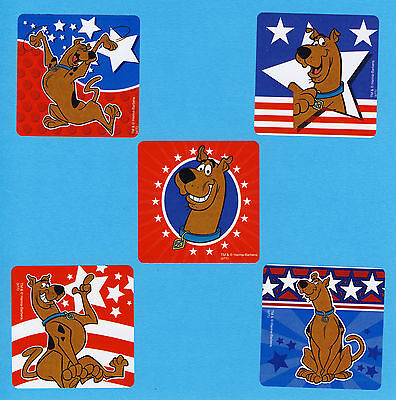 10 Scooby Doo Patriotic 4th of July - Large Stickers - Party Favors (4th Of July Party Favors)