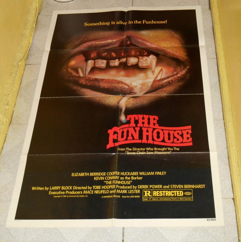 original THE FUNHOUSE one-sheet poster Tobe Hooper