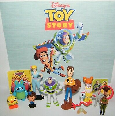 Disney Toy Story 4 Movie Party Favors 13 Set with 10 Figures, Stickers and Ring](Movie Party)