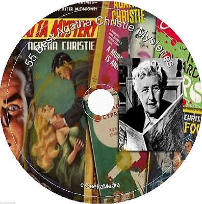 Agatha Christie Mystery Book Collection Cd DVD Murder Suspense Thriller Poirot