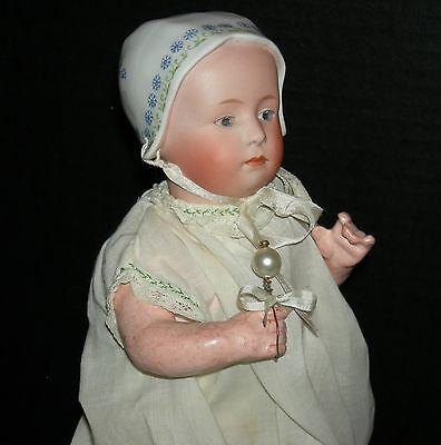 """BABY STUART - GEBRUDER HEUBACH - MOLDED DECORATED HAT - ORIG BODY FINISH - 10"""""""