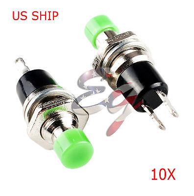 Green 10pcs 7mm Mini Momentary Onoff Lockless Micro Push Button Spst Switch