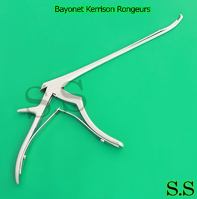 Bayonet Kerrison Rongeurs 45 Curved Up 3mm Surgical Instruments