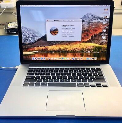"ULTIMATE 2015 MacBook Pro Retina 15"" 2.5GHz i7 512GB SSD 16GB DISCRETE GRAPHICS"