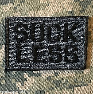 SUCK LESS USA ARMY MORALE  MILSPEC ACU DARK VELCRO® BRAND FASTENER BADGE PATCH