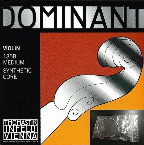 **** Dominant 135B Violin String Set 4/4 Size E Ball ,Same Day Shipping****