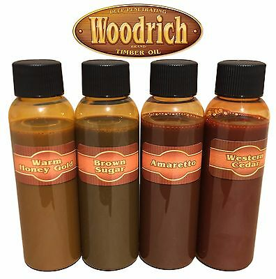 - Timber Oil Wood Deck Fence & Siding Stain - Sample Color Kit - Woodrich Brand