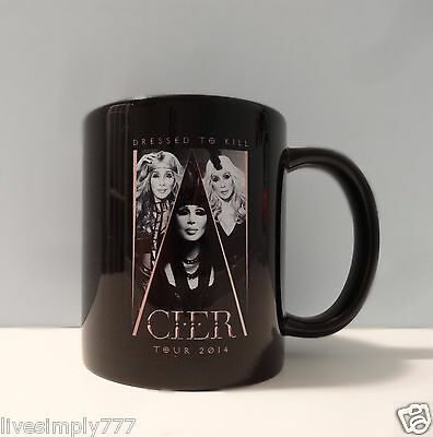 CHER NEW DRESSED TO KILL 2014 BLACK COFFEE MUG